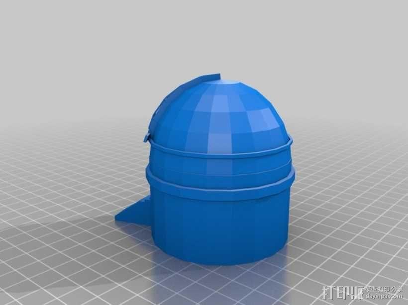 帕洛马山天文台 3D模型  图1