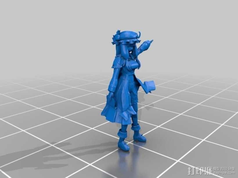 漫画造型 小女孩 3D模型  图1