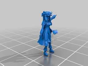 漫画造型 小女孩 3D模型