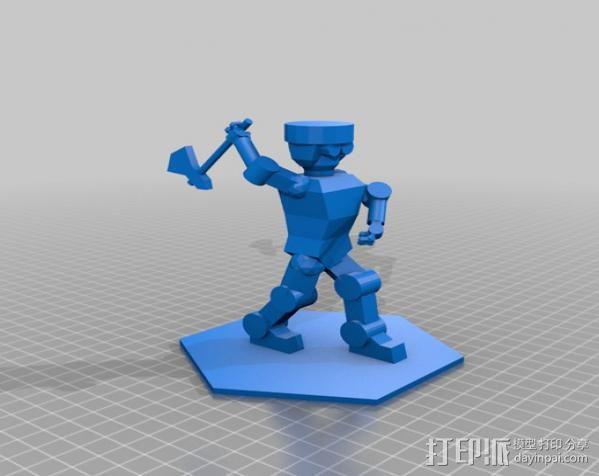 伐木工人 3D模型  图2