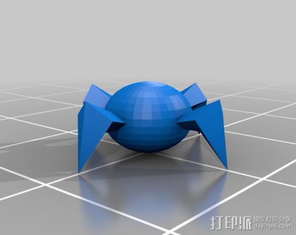 蜘蛛机器人 3D模型  图1