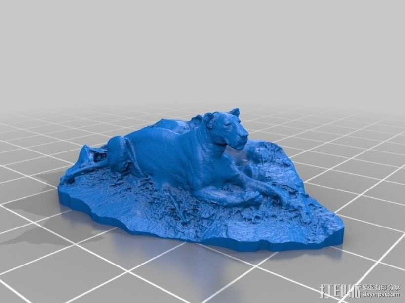 狮子 3D模型  图2