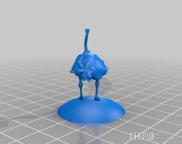 非洲鸵鸟 3D模型  图2