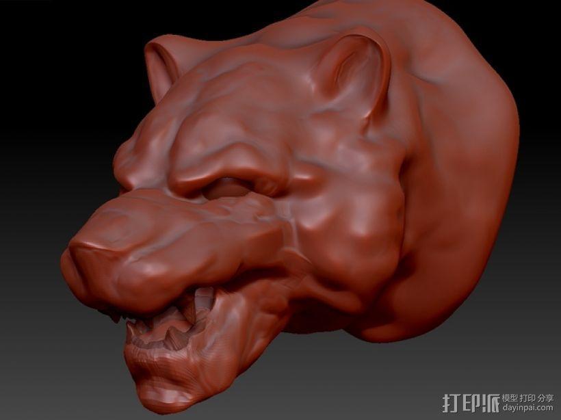 老虎头 3D模型  图1
