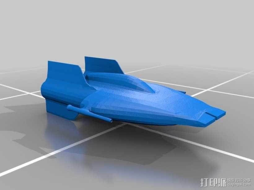A翼战斗机 3D模型  图1