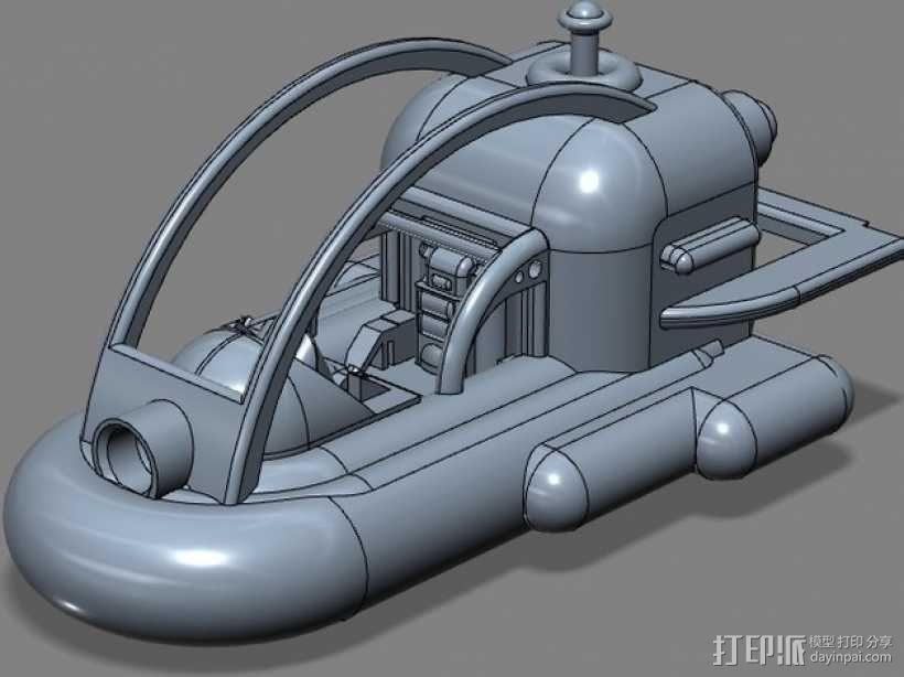 船 快艇 3D模型  图1