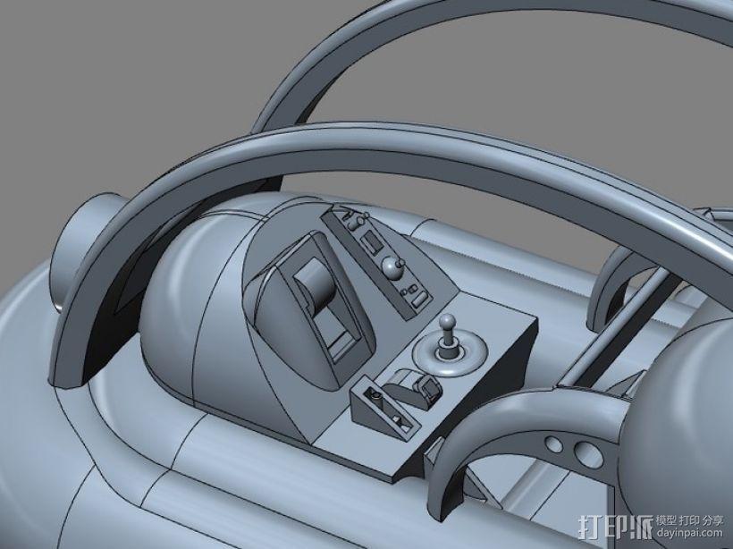 船 快艇 3D模型  图3