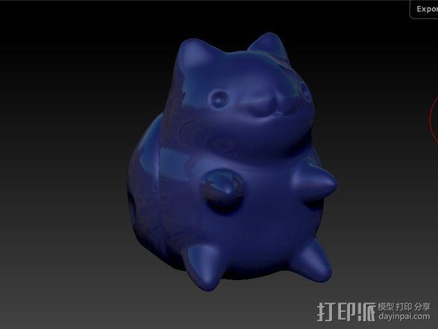猫咪瓢虫 3D模型  图2