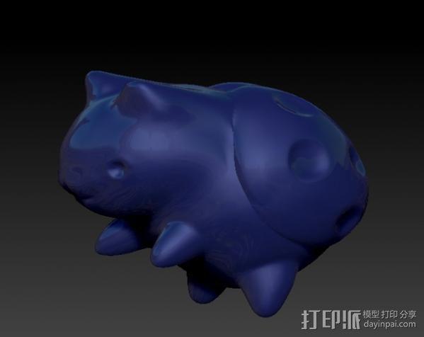 猫咪瓢虫 3D模型  图4