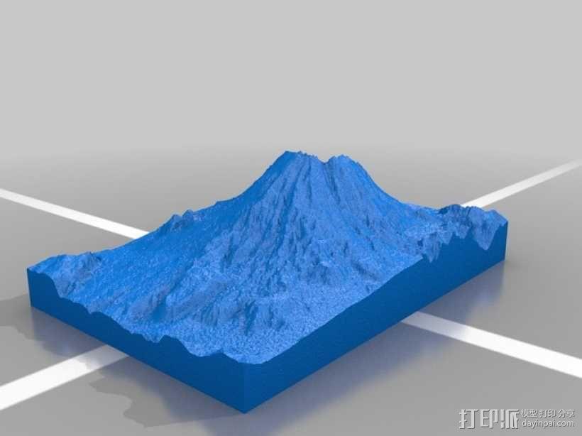 圣海伦斯火山地形模型 3D模型  图3