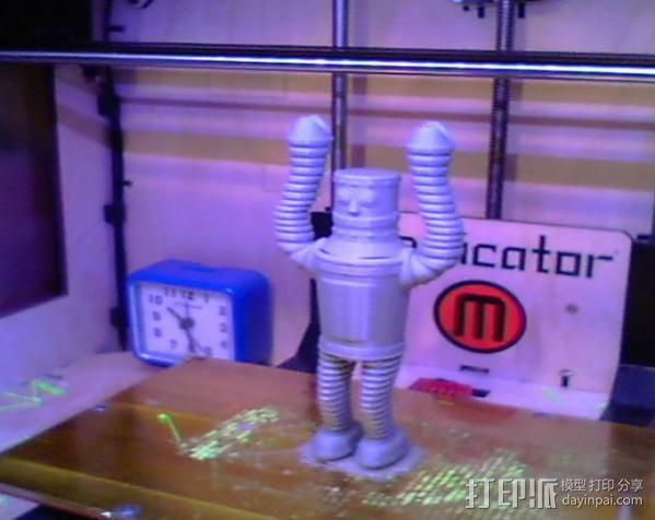 复古机器人 3D模型  图3