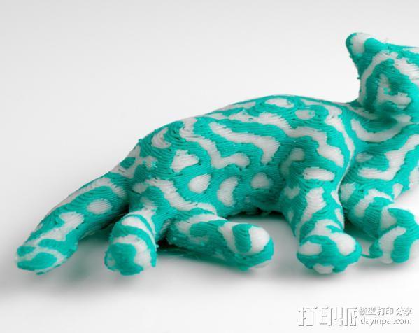 双色笑脸猫 3D模型  图4