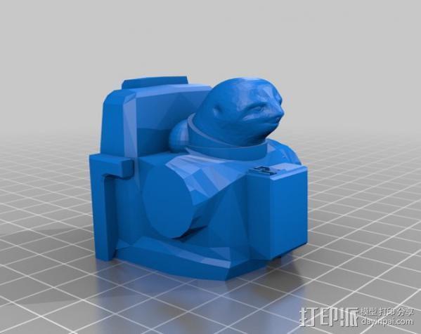 Sloth 半身像制作模具 3D模型  图8