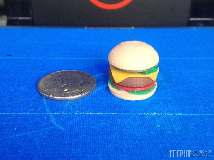 芝士汉堡 3D模型  图1