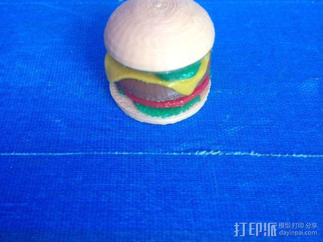 芝士汉堡 3D模型  图2