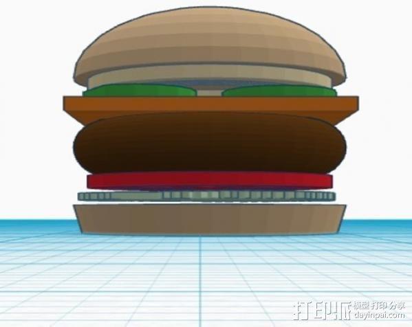芝士汉堡 3D模型  图4
