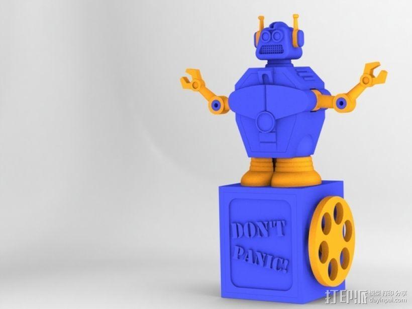 暴躁的机器人 3D模型  图1