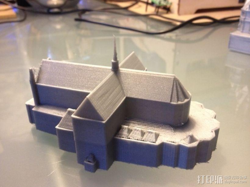 水坝广场新教堂 3D模型  图2