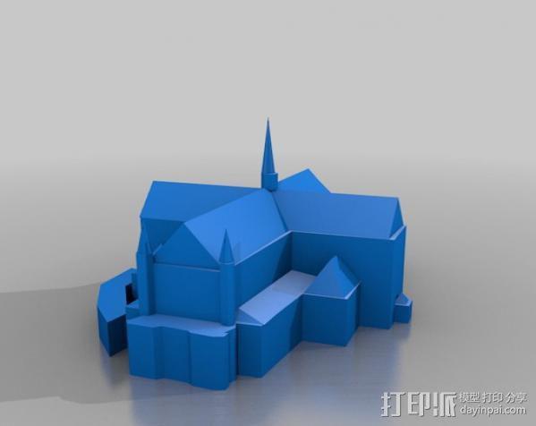 水坝广场新教堂 3D模型  图1