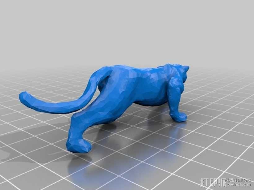 美洲豹 3D模型  图1