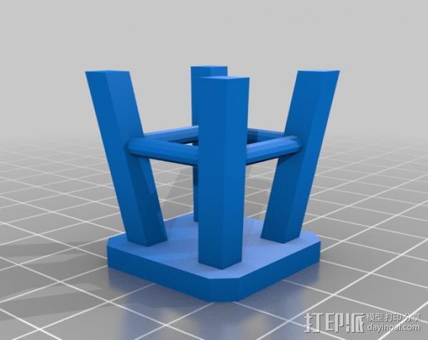 高脚凳 3D模型  图2