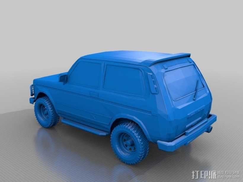 Niva小型吉普车 3D模型  图1