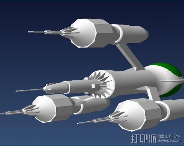 解放者号飞船 3D模型  图5