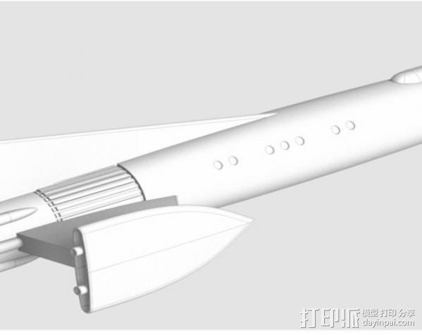 Fireball XL5飞船 3D模型  图3