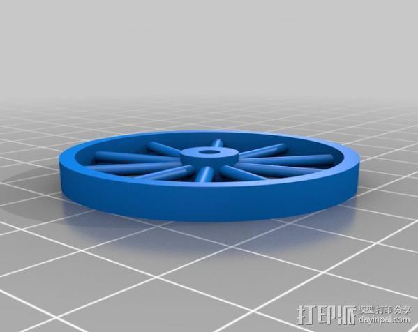 辐条轮 3D模型  图1