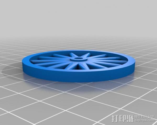 辐条轮 3D模型  图2