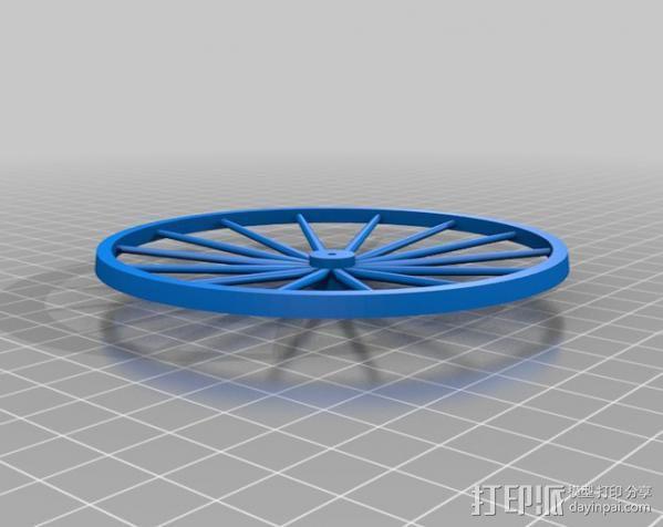 辐条轮 3D模型  图3