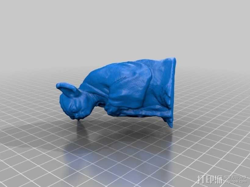 尤达大师 雕塑 3D模型  图1