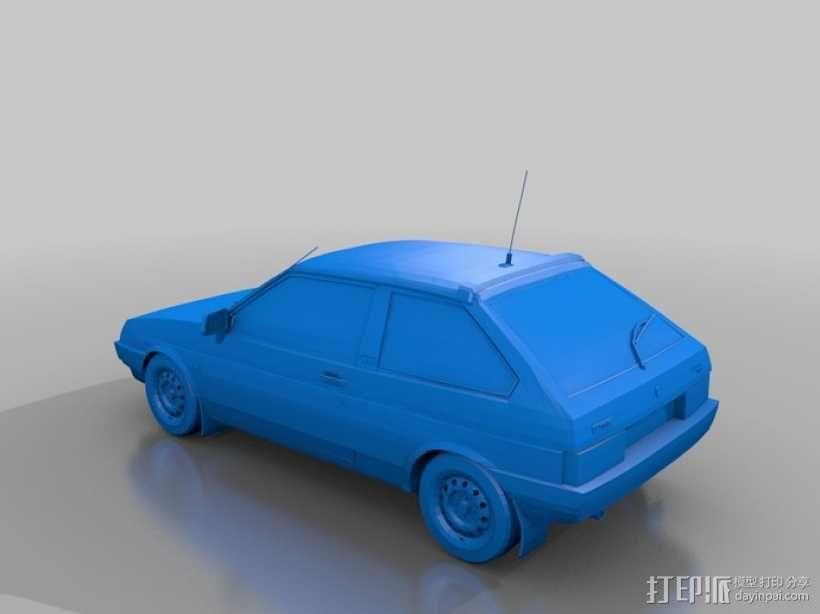 LADA SAMARA拉达汽车 3D模型  图1