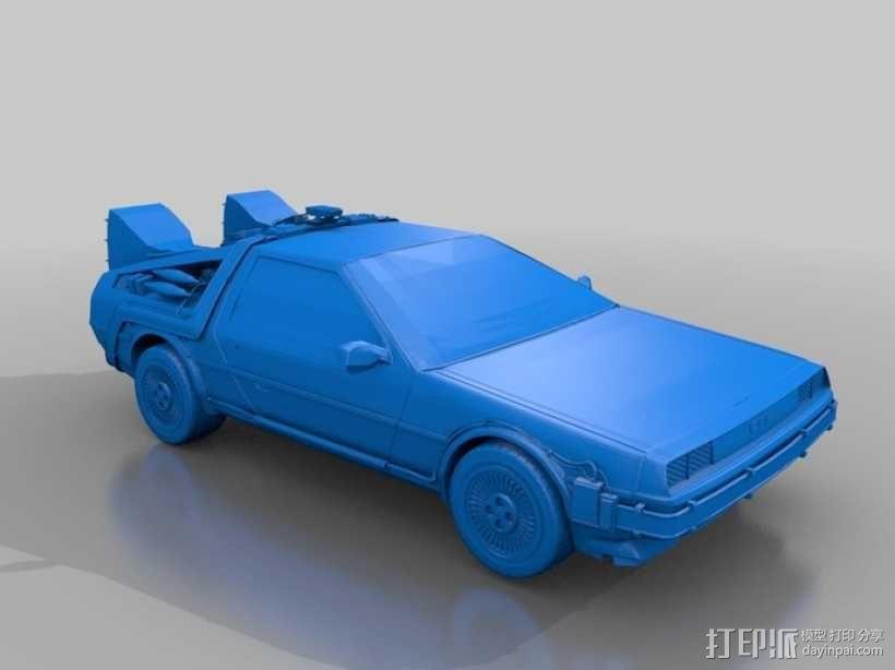 Delorean德劳瑞恩汽车 3D模型  图1