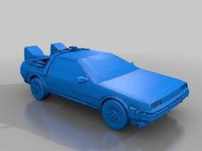 Delorean德劳瑞恩汽车 3D模型