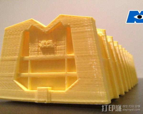 蓝毛怪制作模具 3D模型  图2