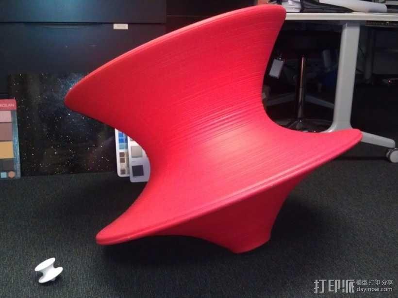 旋转椅 3D模型  图2