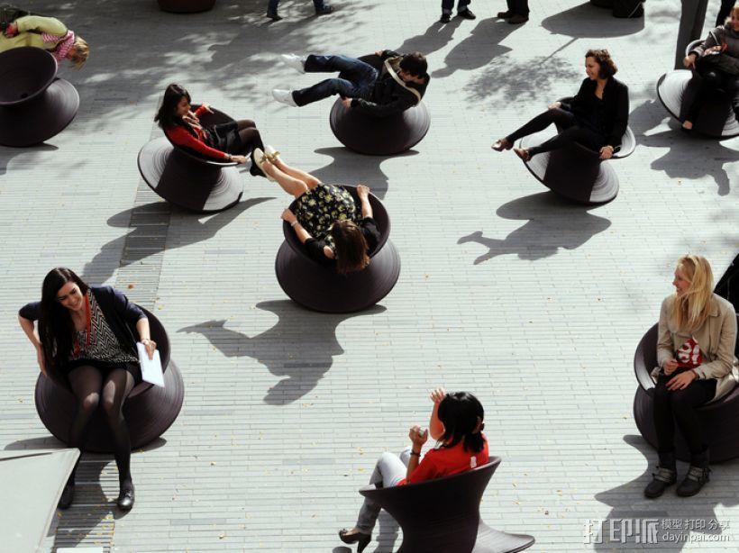 旋转椅 3D模型  图4