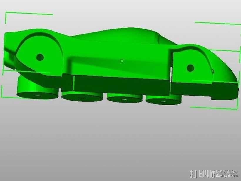 梅赛德斯c9汽车 3D模型  图1