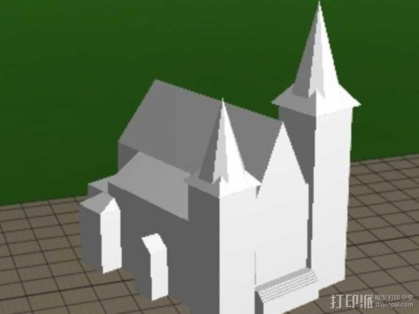 圣安东尼教堂 3D模型  图1