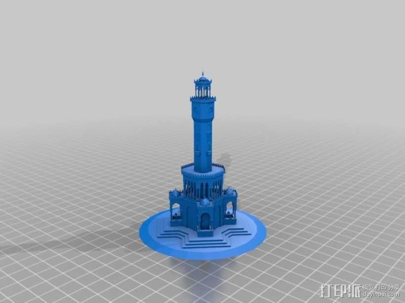 钟塔 钟楼 3D模型  图1
