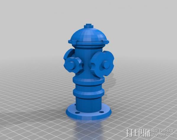 消防栓 3D模型  图2