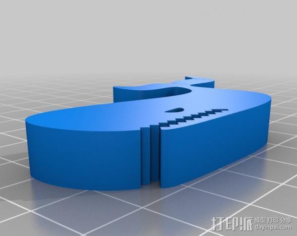 鲸鱼夹 3D模型  图2