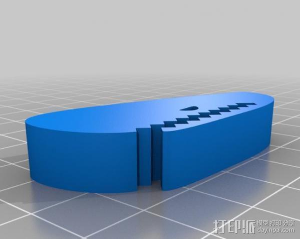 鲸鱼夹 3D模型  图3