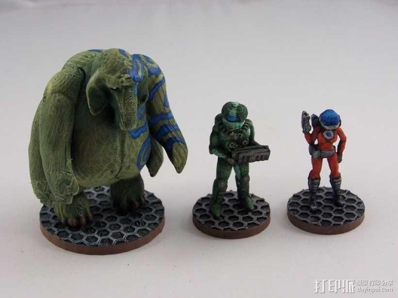 大象战士 3D模型  图1