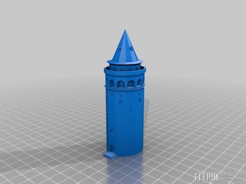 加拉塔石塔 3D模型  图1