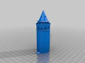 加拉塔石塔 3D模型