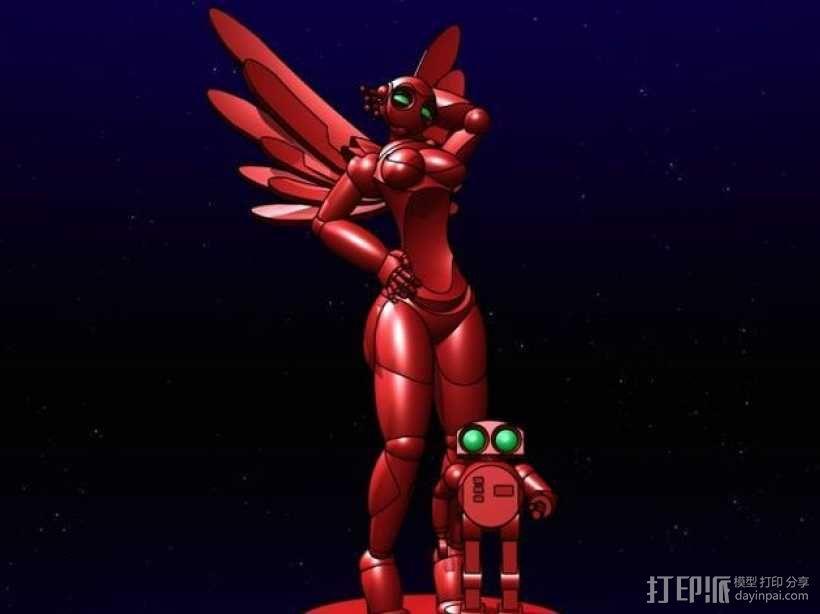 机器人女孩 3D模型  图3