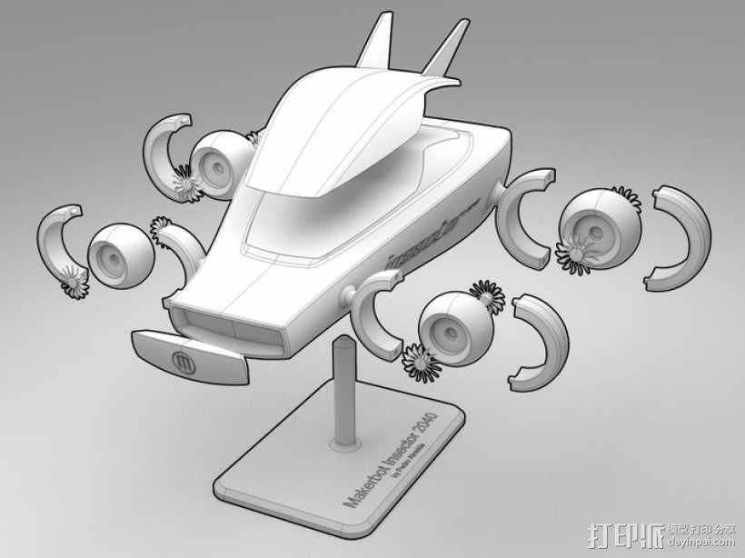 未来式巡视车 3D模型  图2
