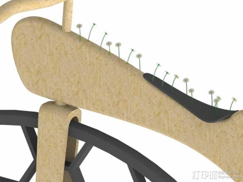 Penny Silva 自行车 3D模型  图2